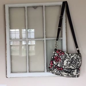 Coach Messenger Bag, White with Floral Pattern